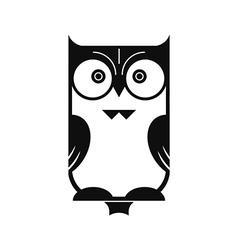 Owl black silhouette vector