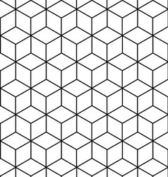 Seamless geometric pattern background design vector