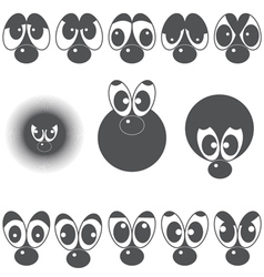 A set of eyes with a nose vector