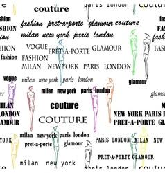 Seamless fashion pattern vector