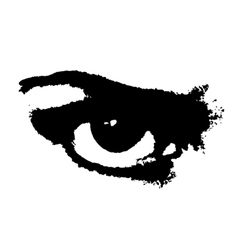 Grunge angry eye vector