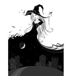 Lady night vector