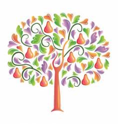 Pear tree vector