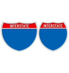 Interstate road signs vector