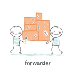 Forwarder is boxes with the goods vector