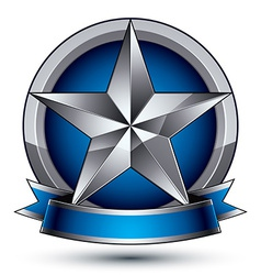 Heraldic template with five-pointed silver star vector