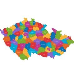 Czech republic map vector