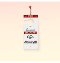 Fantastic clearance offer tag vector
