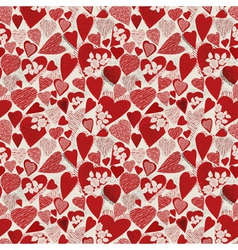 Grunge heart seamless pattern vector