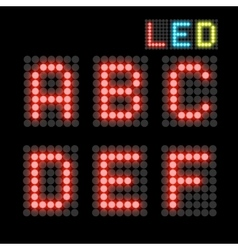 Led font vector