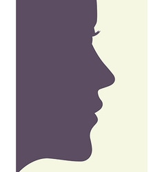 Woman profile vector