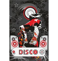 Disco girl vector