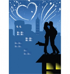 Love on the roof vector