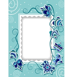 Decorative card with fancy ivy vector