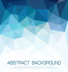 Abstract blue background with mosaic for business vector