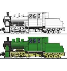 An old locomotive vector