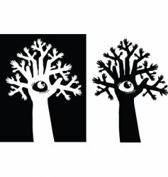 Tree and eye vector