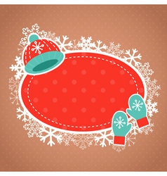 Cute winter invitation xmas card vector