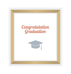 Flat design graduation celebration vector