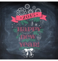 Vintage new year background vector
