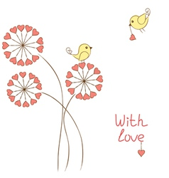Romantic birds vector