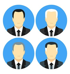 Flat style business men with four haircuts vector