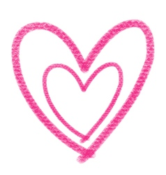 Double pink heart vector