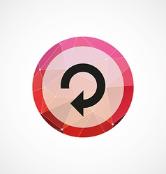 Reload circle pink triangle background icon vector