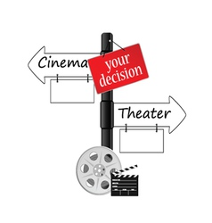Cinema or theater icon vector