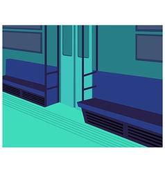 Metro train interior vector