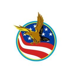 American eagle carry usa flag retro vector