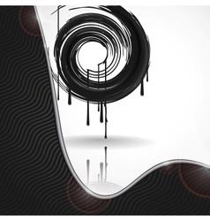 Black paint splashes circle vector