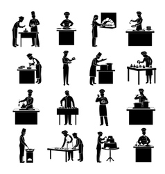 Cooking icons black vector