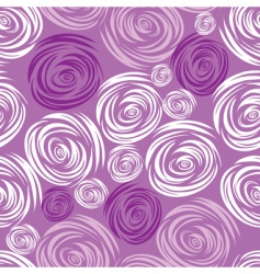 Seamless pink rose pattern vector