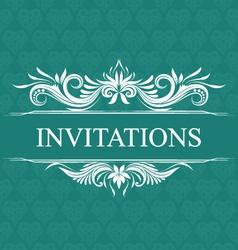Invitations wedding ornamental vector