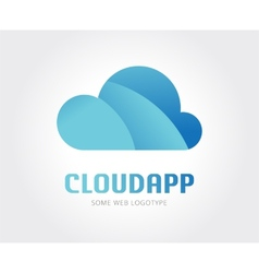 Abstract cloud logo template for branding vector