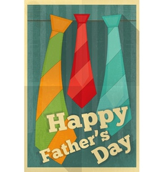 Fathers day poster ties vector