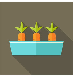 Pot with carrots vector