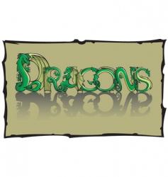 Dragon font vector