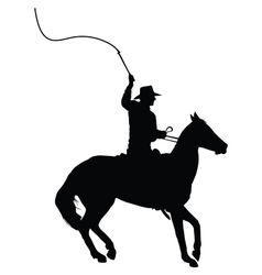Horseman with whip vector