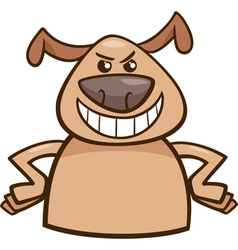Mood cruel dog cartoon vector