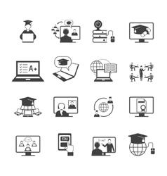 Online education icon vector