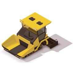 Isometric asphalt paver vector