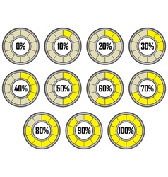 Round loader progress bar vector