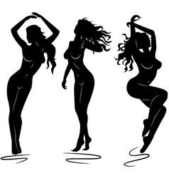 Sexy woman silhouettes vector