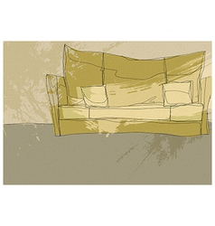 Sketch couch background vector