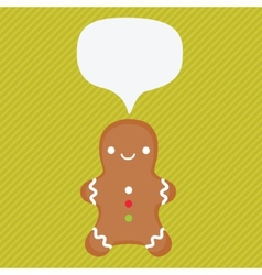 Ginger cookie with speech bubble vector
