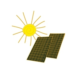 Colored doodle solar panels vector