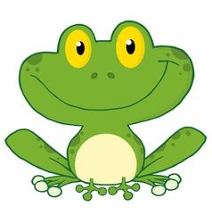 Smiling green frog vector