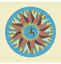 Human leaf yoga mandala vector